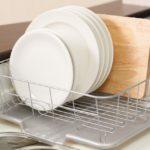 水切りかごは使わない!リネンクロスとキッチンペーパーで代用!
